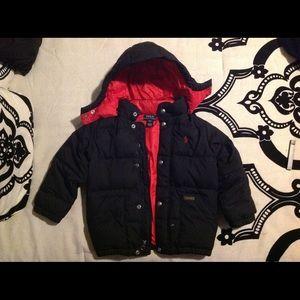 Ralph Lauren Hooded Down Jacket Size 4/4T